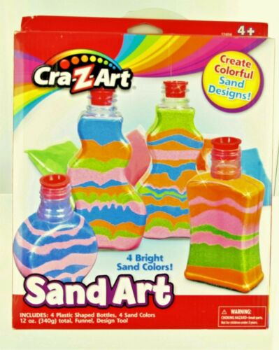New Cra-Z-Art Sand Art Designs Kids Craft Kit Activity Orange Green Pink Blue