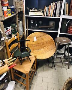 Rattan wicker hoop chair