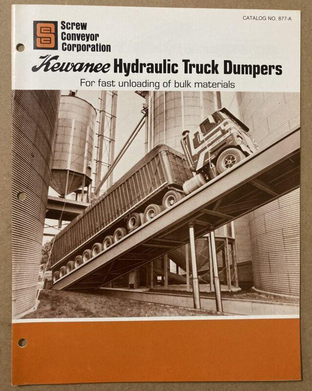 Kewanee Hydraulic Truck Dumpers Dealer Brochure Catalog Screw Conveyor Hammond