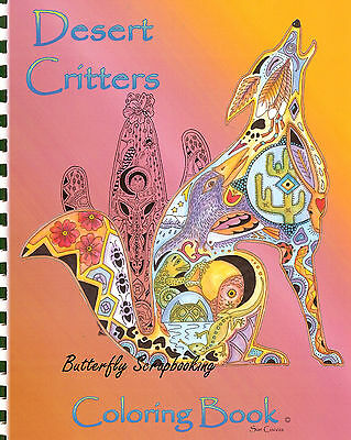 Coloring Book Desert Criters Animal Spirits 15 Pages EARTH ART Sue Coccia - Spirit Coloring Pages