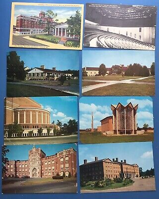 Large Lot Of 50 University and College Postcards, Mixed Eras and States