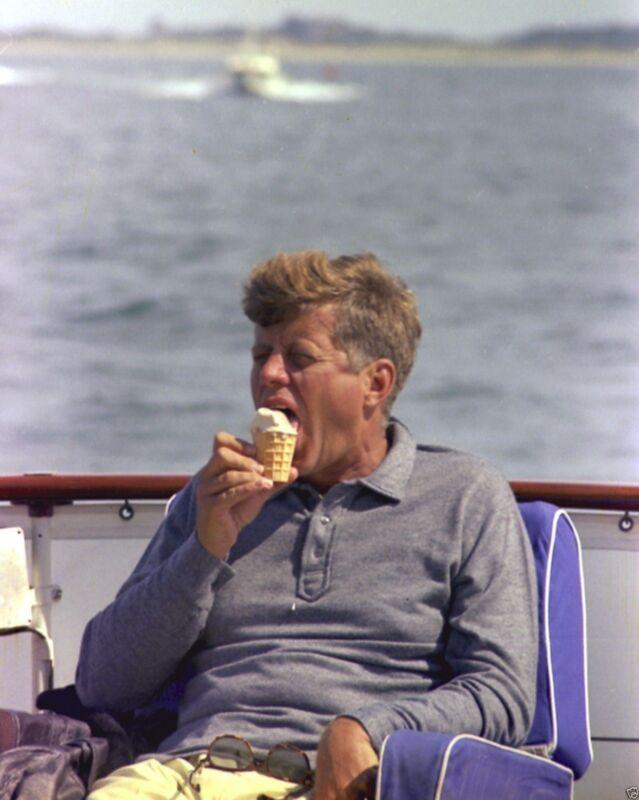 President John F. Kennedy aboard yacht Honey Fitz Hyannis Port - New 8x10 Photo