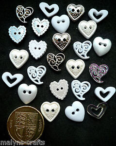 WEDDING VALENTINE HEARTS Craft Buttons Novelty Embellishments Love Perfect Union