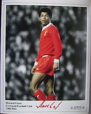 Howard Gayle signed (Liverpool) 10x8 COA