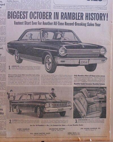 1963 newspaper ad for Rambler -