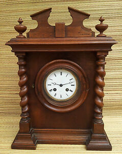 ancienne tr s belle horloge vintage en bois poser french antique clock ebay. Black Bedroom Furniture Sets. Home Design Ideas
