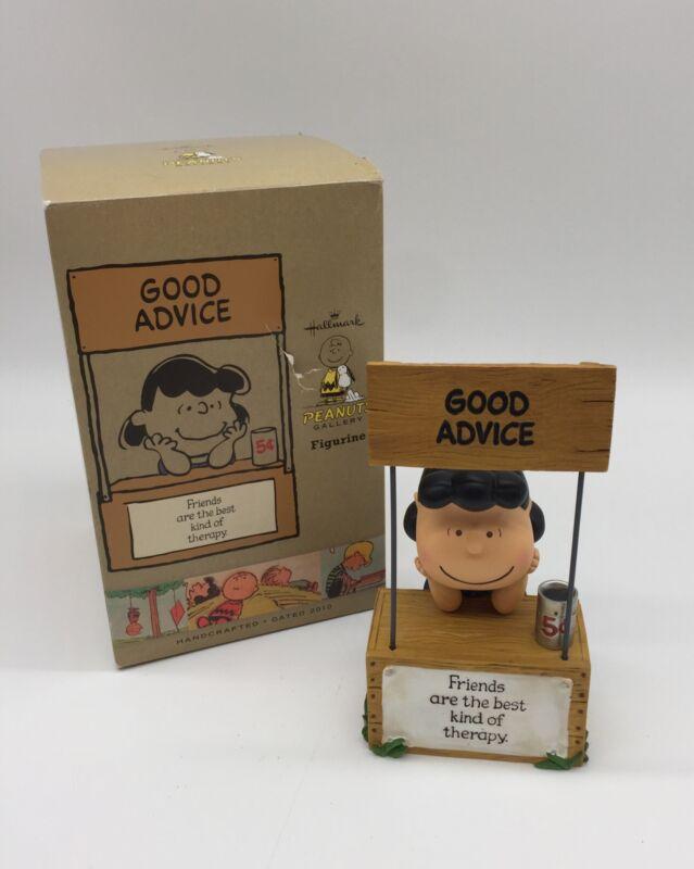 Hallmark Peanuts Gallery Figurine (Lucy ) Good Advice