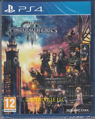 Kingdom Hearts III 3 PS4 PlayStation 4 Brand New Factory Sealed
