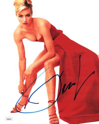 TEA LEONI Signed SEXY LEGS & HIGH HEELS 8x10 Photo Autograph JSA COA