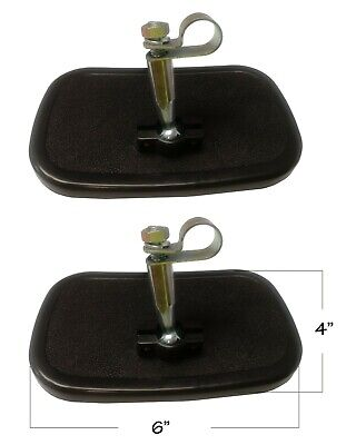 Clamp On Universal Rear View Mirror Pair Small 3 34 X 6 Ball Swivel Pin Er024