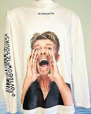IH NOM UH NIT Sweatshirt DAVID BOWIE Distressed Optic White L/S Scream L