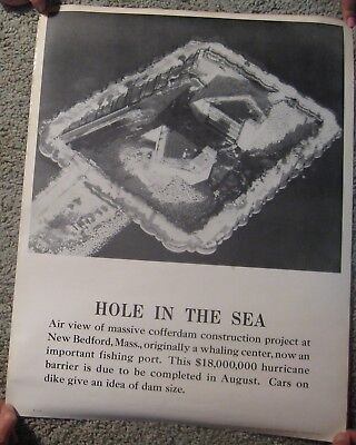 Vintage Hole In The Sea Construction Project New Bedford Advertising Sign Poster