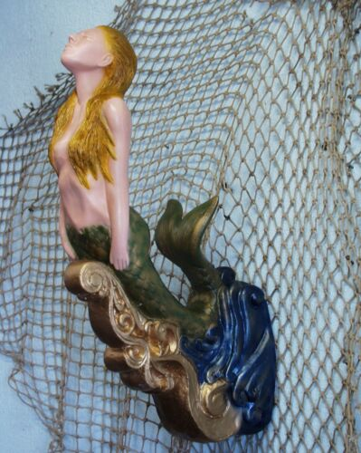SMALL MERMAID SHIPS FIGUREHEAD NAUTICAL! FOLK ART DECOR