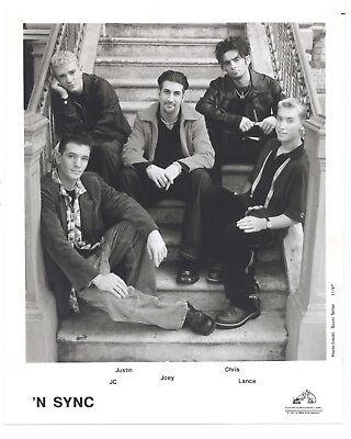 RCA 1997 N SYNC Orig 8x10 JUSTIN TIMBERLAKE Lance Bass CHRIS Joey JC Portrait