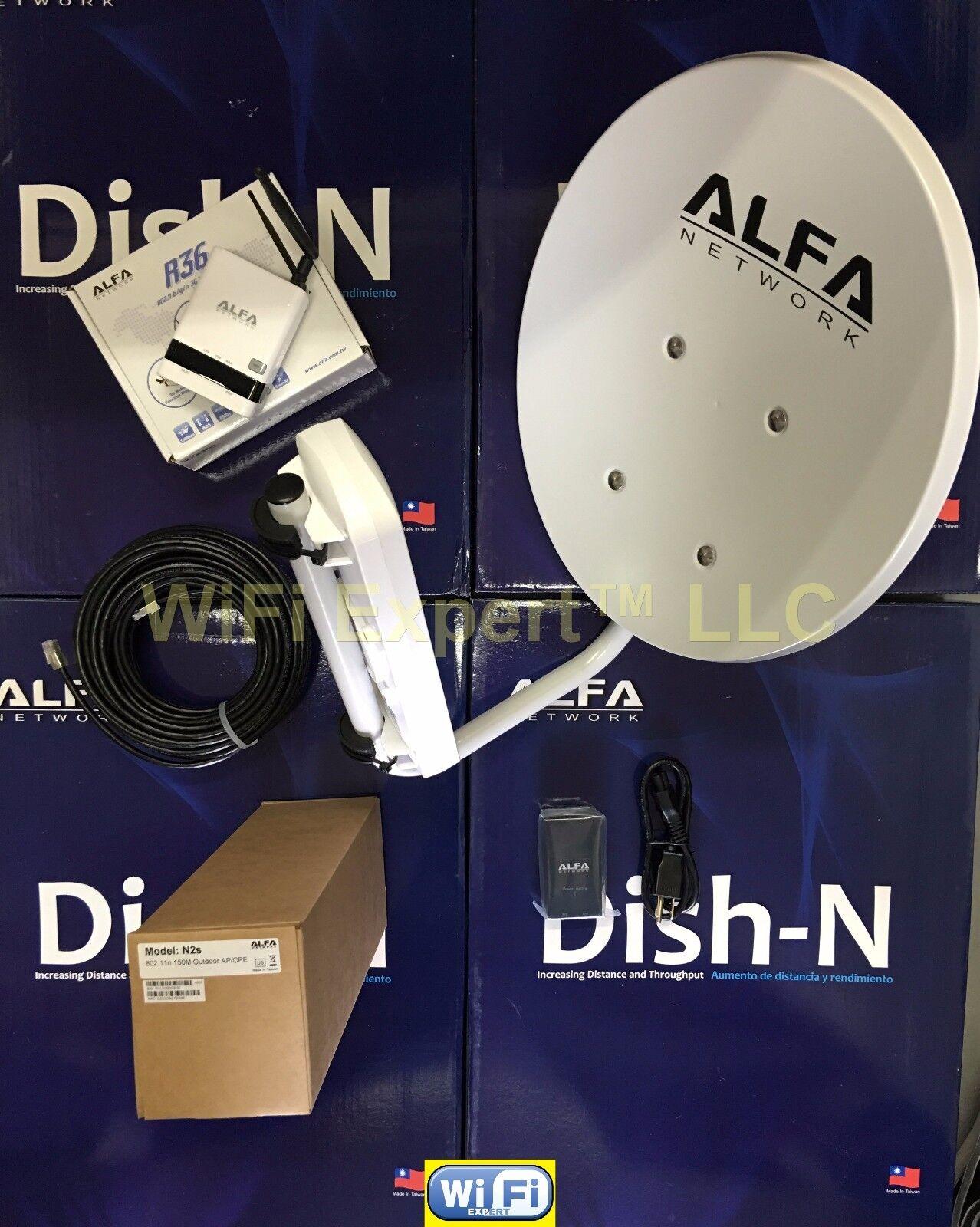 WiFi DISH N dBi ALFA R N2S PoE Cat5e Outdoor Booster GET