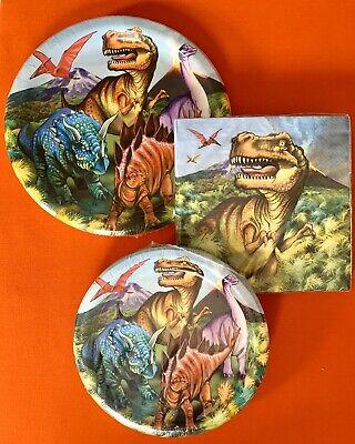 "Dinosaur Themed Birthday Party (DINOSAUR Themed Birthday Party Tableware Plates, 18-9"", 20-7"" & 20)"