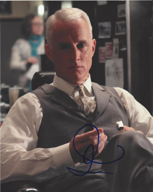 JOHN SLATTERY SIGNED AUTHENTIC 'MAD MEN' 8X10 PHOTO B w/COA ACTOR SPOTLIGHT