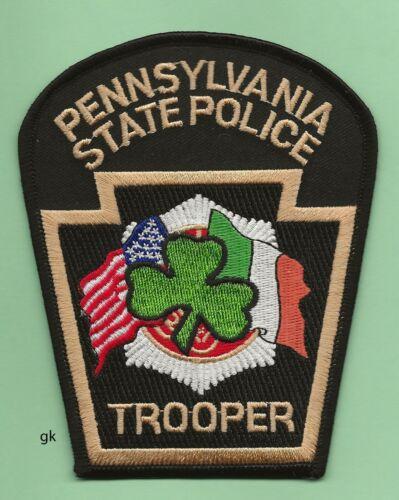 PENNSYLVANIA STATE POLICE TROOPER EMERALD SOCIETY PATCH  Irish.
