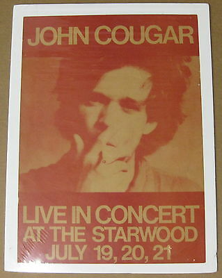 John Cougar Starwood Hollywood 1979 Us Org Concert Poster Mellencamp Incredible