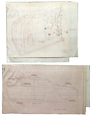 Vintage Chevrolet Chevy Pontiac Wagon Car Blueprints Artist LM Schultz -Concept?