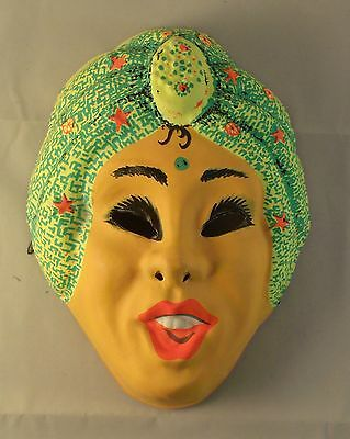 Vintage 1960s Halloween Costumes (Vintage 1960's Genie Vacuform Plastic Halloween Mask )