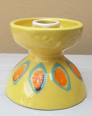 Vintage Italian ceramic design cat face candle holder 1970s portacandela gatto