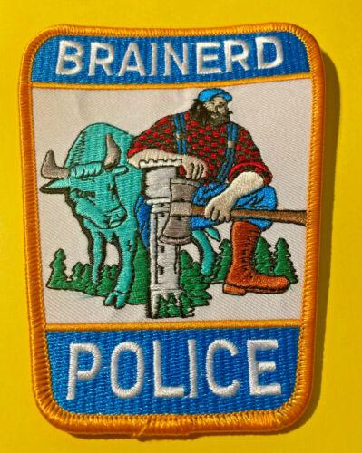 BRAINERD MINNESOTA POLICE PATCH - PAUL BUNYAN & BABE