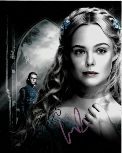 Elle Fanning/Harris Dickinson Signed Maleficent 10x8 Photo AFTAL