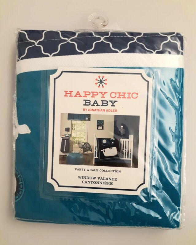 NEW Happy Chic Baby Party Whale Collection Window Valance Jonathan Adler JA D2
