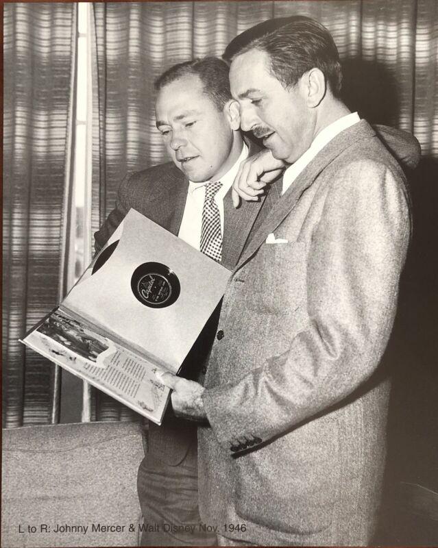 Walt Disney and Johnny Mercer 8 x 10 Photogragh Nov. 1946 Excellent Condition