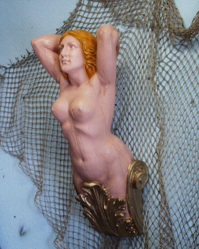 BRITANNIA SHIP'S FIGUREHEAD - NAUTICAL-FOLK  ART  Decor