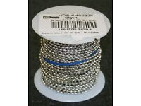 BEADING LINE JEWELRY CRAFT CORD 0.8MM CLEAR 16 METER SPOOL 80LB TEST 1 ROLL W11