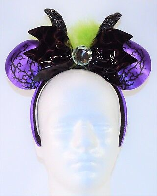 Disney Parks Exclusive 2018 Halloween Maleficent Minnie Ears Headband NEW CUTE