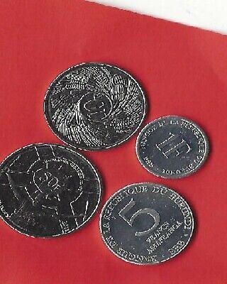 Burundi reeks van 4 munten 1980/2011 ** 1+5+10+20 Francs **