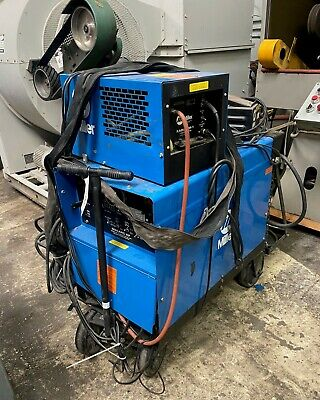 Miller Dialarc Hf Cc-acdc Arc Welding Power Source Radiator-1 Cooler And Cart