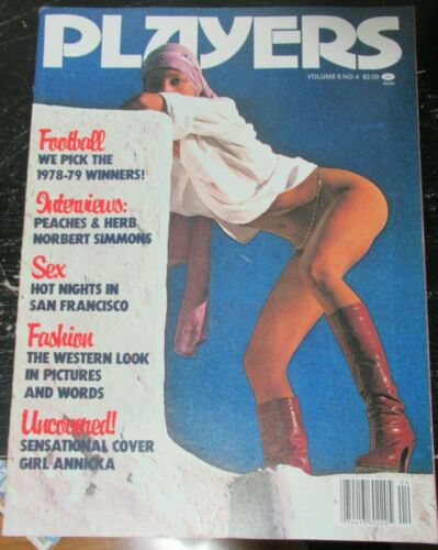 PLAYERS VOLUME 6 #4 VINTAGE AFRICAN AMERICAN COLLECTABLE MAGAZINE
