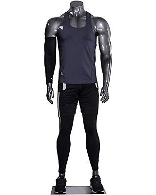 Muscular Male Athletic Headless Silver Mannequin