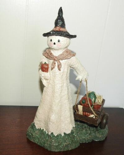 Halloween Broomsnickle Ghost with Wagon Linda Linquist Baldwin 59/2000