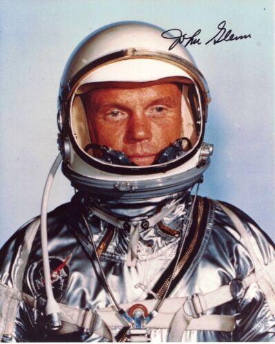 Signed Photo John Glenn Mercury Astronaut Full Portrait