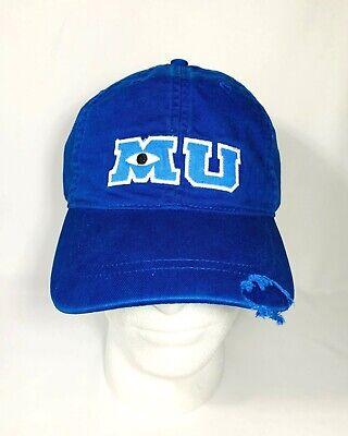 Disney Parks Monsters Inc Monsters University MU Blue Baseball Hat Cap Adult](Monsters Inc Hat)