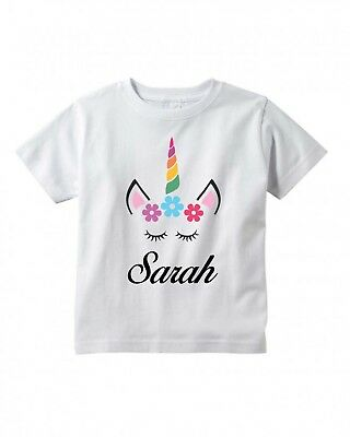 Personalized Toddler (Unicorn Face Eyes ~ Toddler ~ Child T-Shirt   ~ Personalized)