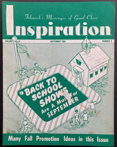 "1953 ""INSPIRATION"" MOVIE THEATRE MAGAZINE (SEPT) DISNEY, CARTOONS, 3-D, BALLYHOO"