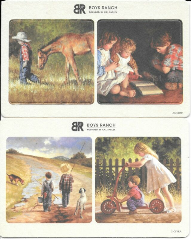COASTERS PROVIDED BY THE BOYS RANCH FEATURING BOYS/GIRLS AND THEIR PETS