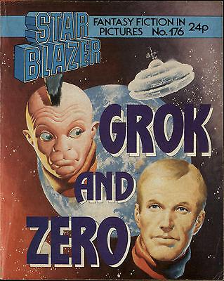 GROK AND ZERO,STARBLAZER FANTASY FICTION IN PICTURES,NO.176,COMIC,1986