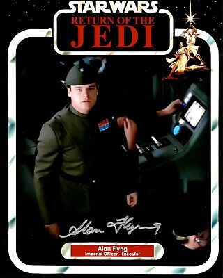 "Star Wars Alan Flyng Hand Signed 8x10"" Photo UACC COA Imperial Officer Autograph"