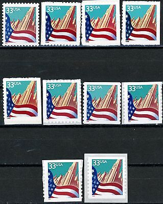 FLAG OVER CITY SKYSCRAPERS MNH SET 10 DIFFERENT SCOTT NUMBERS FROM 3277 TO 3282