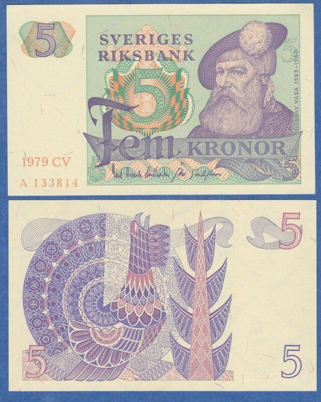 Sweden 5 Kronor P 51 d 1979 UNC Low Shipping! Combine FREE!