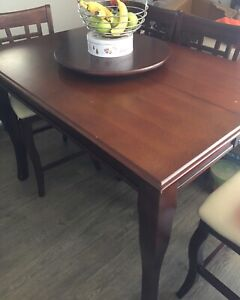 Wood Dining Table Set - Pub Style $375 obo