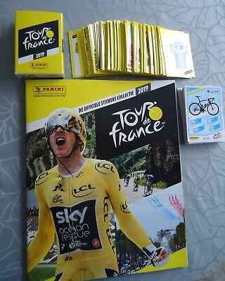 PANINI stickers 352x wielrenners TOUR DE FRANCE 2019 cyclisme + 42 cards +album