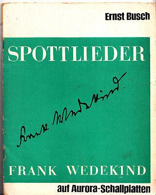 """2x7"""" Spottlieder - Frank Wedekind - Busch, Ernst - Aurora Schallplatten 1964"""